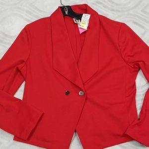 Anne Klein red blazer New L or XL